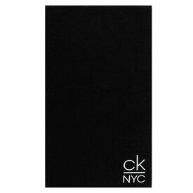 カルバンクライン Calvin Klein メンズ ビーチタオル 水着・ビーチウェア【Calv NYC Towel】Black BEH