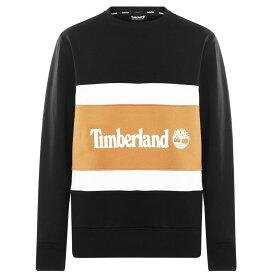 ティンバーランド Timberland メンズ スウェット・トレーナー トップス【Cut and Sew Sweatshirt】Black Wheat
