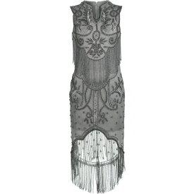 ビバ Biba レディース パーティードレス ワンピース・ドレス【Beaded Gatsby Dress】Grey
