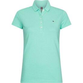 トミー ヒルフィガー Tommy Hilfiger レディース ポロシャツ トップス【classic slim fit polo shirt】Mint Green