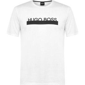 ヒューゴ ボス BOSS メンズ Tシャツ トップス【Identity Logo T-Shirt】White