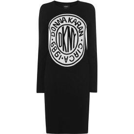 ダナ キャラン ニューヨーク DKNY レディース ワンピース ワンピース・ドレス【Tie Dress】BLACK/IVORY