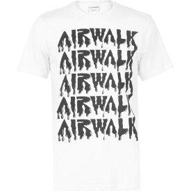 エアウォーク Airwalk メンズ Tシャツ ロゴTシャツ トップス【Drip Logo T Shirt】White