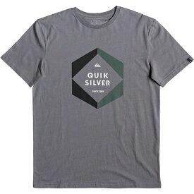 クイックシルバー Quicksilver メンズ Tシャツ トップス【Hexa Logo T-Shirt】Grey