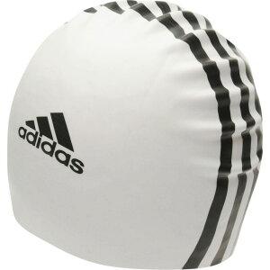 アディダス adidas メンズ 水着・ビーチウェア 【3 Stripe Silicone Swim Cap】White