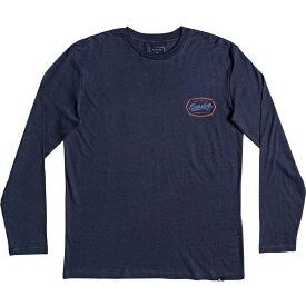 クイックシルバー Quicksilver メンズ 長袖Tシャツ トップス【Living On The Edge Long Sleeve Tshirt】Navy
