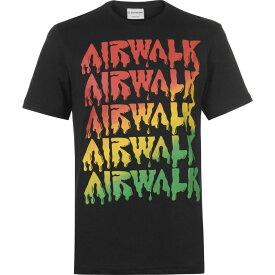 エアウォーク Airwalk メンズ Tシャツ ロゴTシャツ トップス【Drip Logo T Shirt】Black