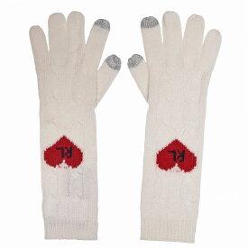 ラルフ ローレン Polo Ralph Lauren レディース 手袋・グローブ 【Polo Heart Glove】Cream