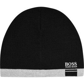 ヒューゴ ボス Boss メンズ ニット ビーニー 帽子【Albo Beanie Sn11】Black