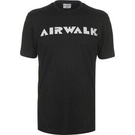 エアウォーク Airwalk メンズ Tシャツ ロゴTシャツ トップス【Logo T Shirt】Black
