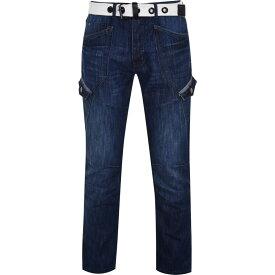 エアウォーク Airwalk メンズ ジーンズ・デニム ボトムス・パンツ【Belted Cargo Jeans】Mid Wash