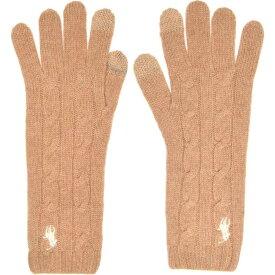 ラルフ ローレン Polo Ralph Lauren レディース 手袋・グローブ 【Polo Cable Glove】Camel