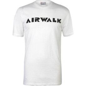 エアウォーク Airwalk メンズ Tシャツ ロゴTシャツ トップス【Logo T Shirt】White