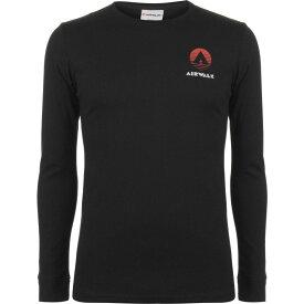 エアウォーク Airwalk メンズ 長袖Tシャツ トップス【Classic Long Sleeve T Shirt】Black