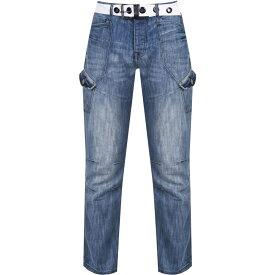 エアウォーク Airwalk メンズ ジーンズ・デニム ボトムス・パンツ【Belted Cargo Jeans】Light wash II