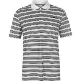 スラセンジャー Slazenger メンズ ゴルフ ポロシャツ トップス【Stripe Polo Shirt】White/Black