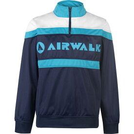 エアウォーク Airwalk メンズ ジャージ ハーフジップ アウター【Quarter Zip Track Jacket】Navy/Teal