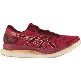 アシックス Asics レディース ランニング・ウォーキング シューズ・靴【GlideRide Running Shoes】Red/White