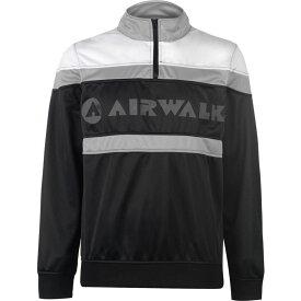エアウォーク Airwalk メンズ ジャージ ハーフジップ アウター【Quarter Zip Track Jacket】Black/White