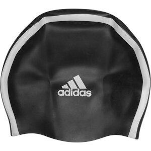 アディダス adidas メンズ 水着・ビーチウェア 【3 Stripe Silicone Swim Cap】Black
