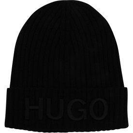 ヒューゴ ボス Hugo メンズ ニット ビーニー 帽子【X565-2 Beanie Sn11】Black