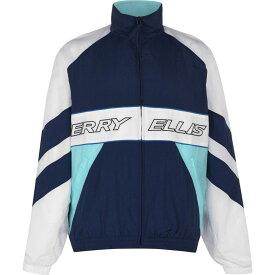 ペリー エリス Perry Ellis メンズ ランニング・ウォーキング ジャージ アウター【Nylon Track Jacket】Ink