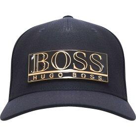 ヒューゴ ボス Boss メンズ キャップ 帽子【Hbg Gold Logo Cap Sn04】Navy/Gold