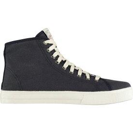リーバイス Levis レディース シューズ・靴 【Edwards Mid Canvas Shoes】Navy Blue