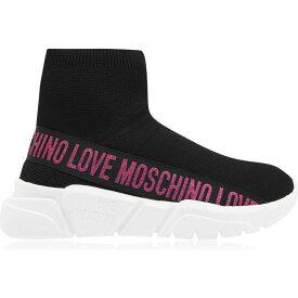 モスキーノ Love Moschino レディース スニーカー シューズ・靴【Lm Band Logo Sock Tr】Pink Tape B