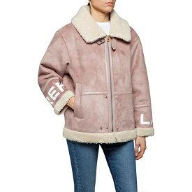 リプレイ Replay レディース ジャケット アウター【Eco-Sheepskin Jacket】Pink