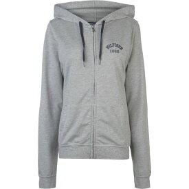 トミー ヒルフィガー Tommy Bodywear レディース パーカー トップス【Iconic Zip Hoodie】Grey Hthr