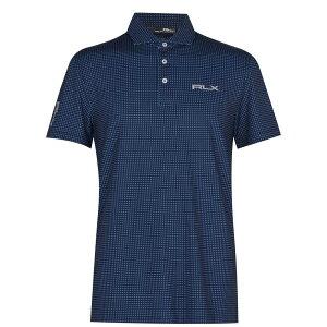 ラルフ ローレン Polo Ralph Lauren メンズ ゴルフ 半袖 トップス【Rlx Short Sleeve Check Polo Shirt】French Navy