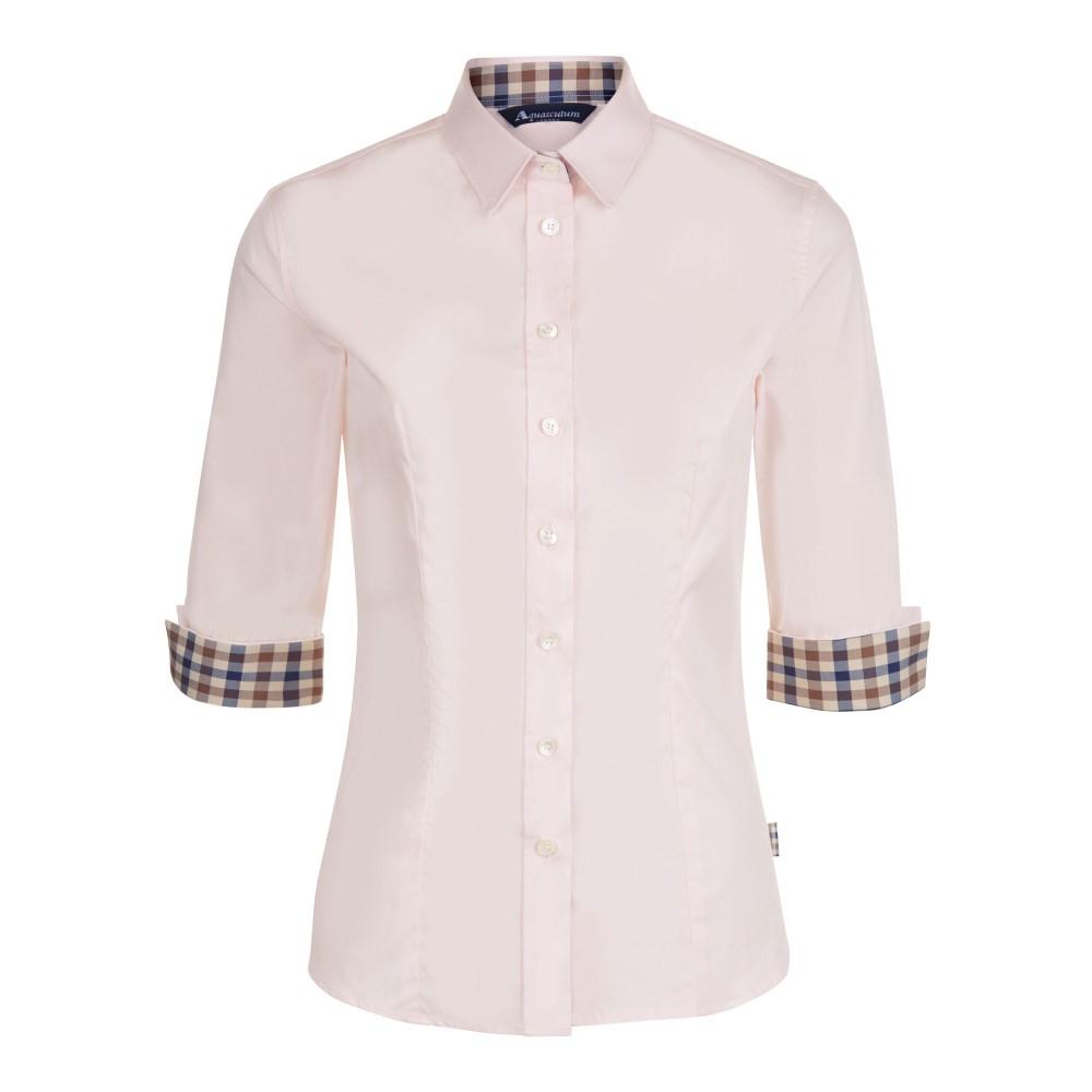 アクアスキュータム レディース トップス【Sadie Club Check Trim Shirt】pink