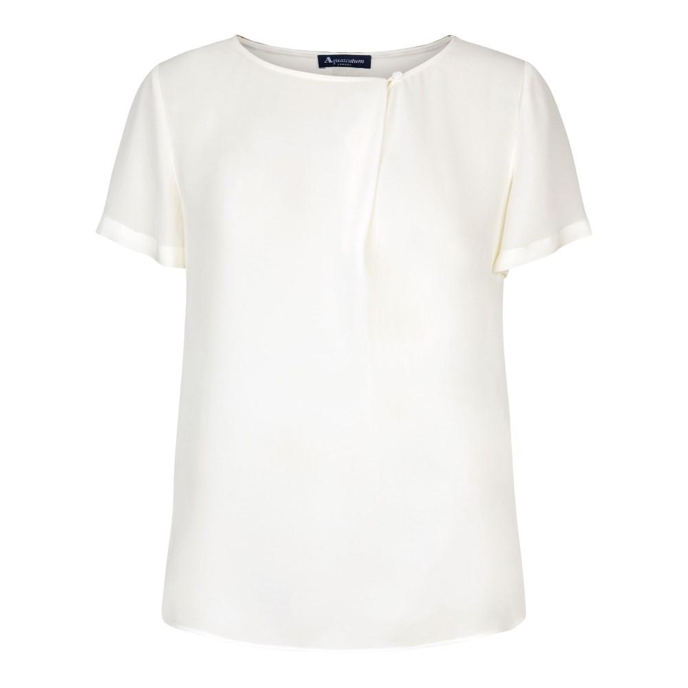 アクアスキュータム レディース トップス【Sariah Fold Front Top】white