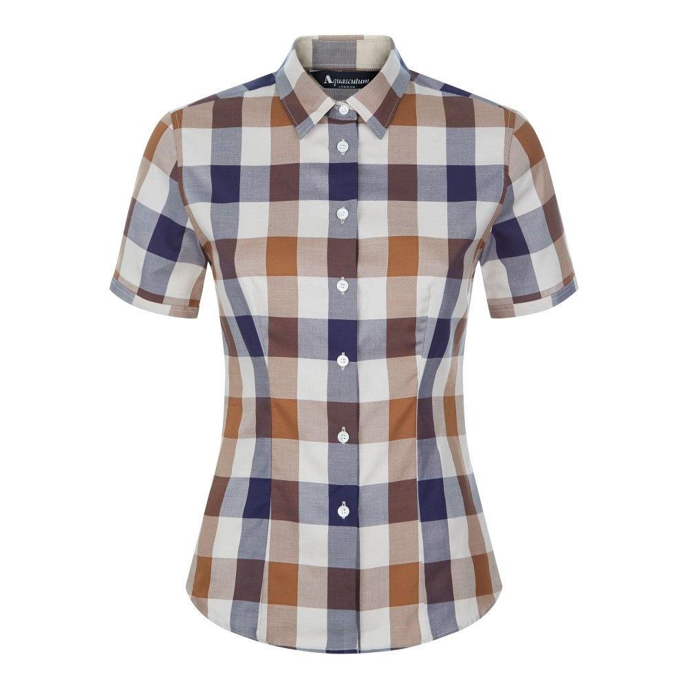 アクアスキュータム レディース トップス ブラウス・シャツ【Jade Short Sleeve Club Check Shirt】multi-coloured