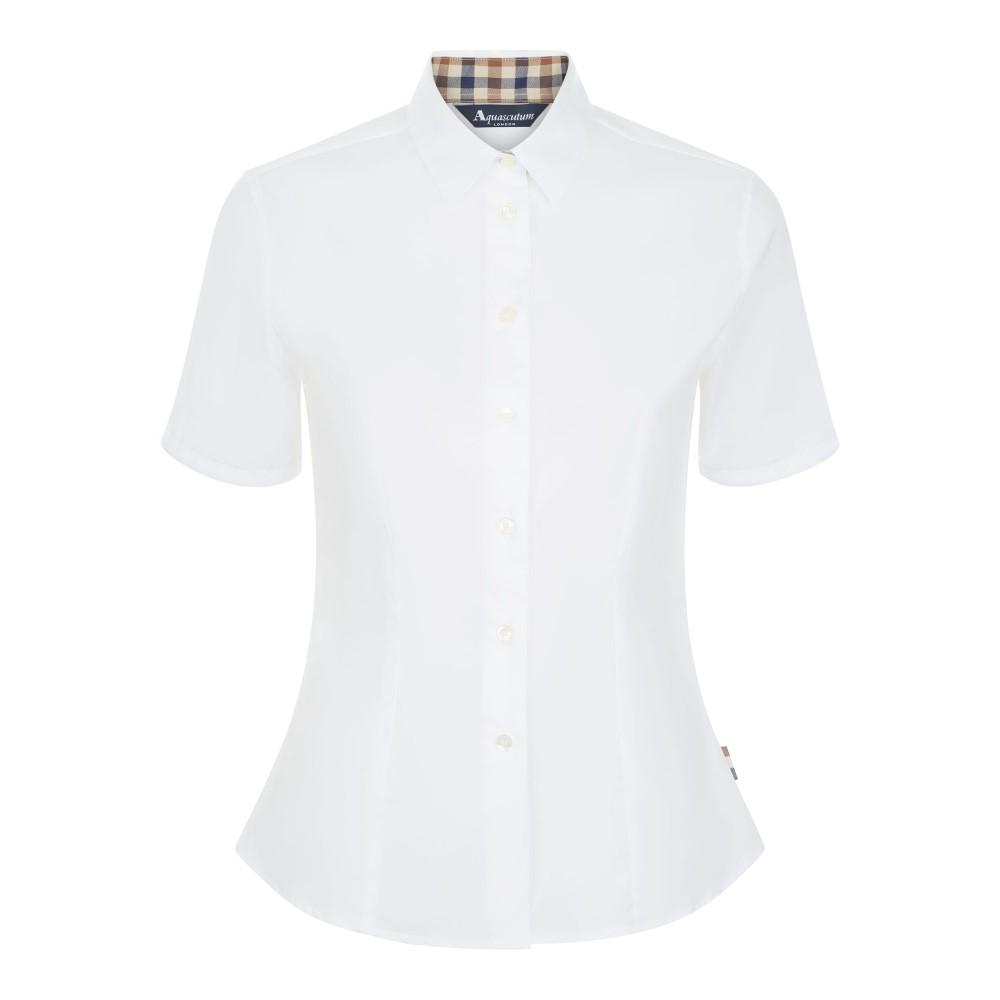 アクアスキュータム レディース トップス ブラウス・シャツ【Jade Short Sleeve Shirt】white