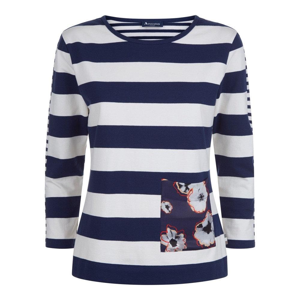アクアスキュータム レディース トップス Tシャツ【Luna Stripe Tee】blue