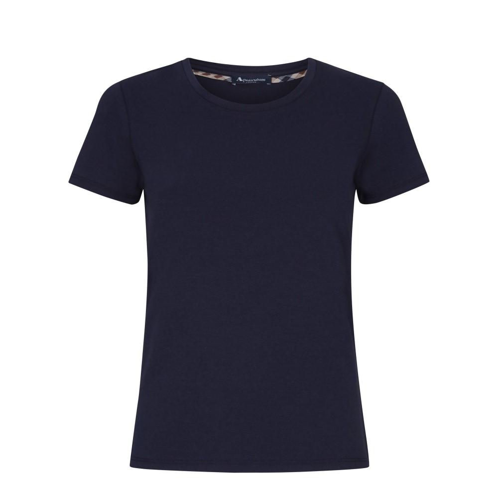 アクアスキュータム レディース トップス Tシャツ【Selby Basic Tee】navy