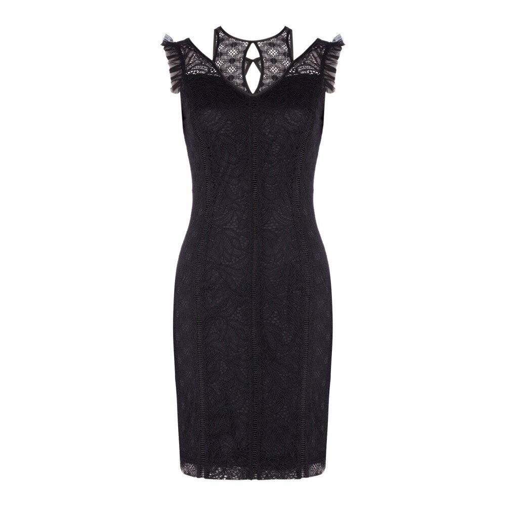 ゲス レディース ワンピース・ドレス ワンピース【Lace Bodycon Dress】black