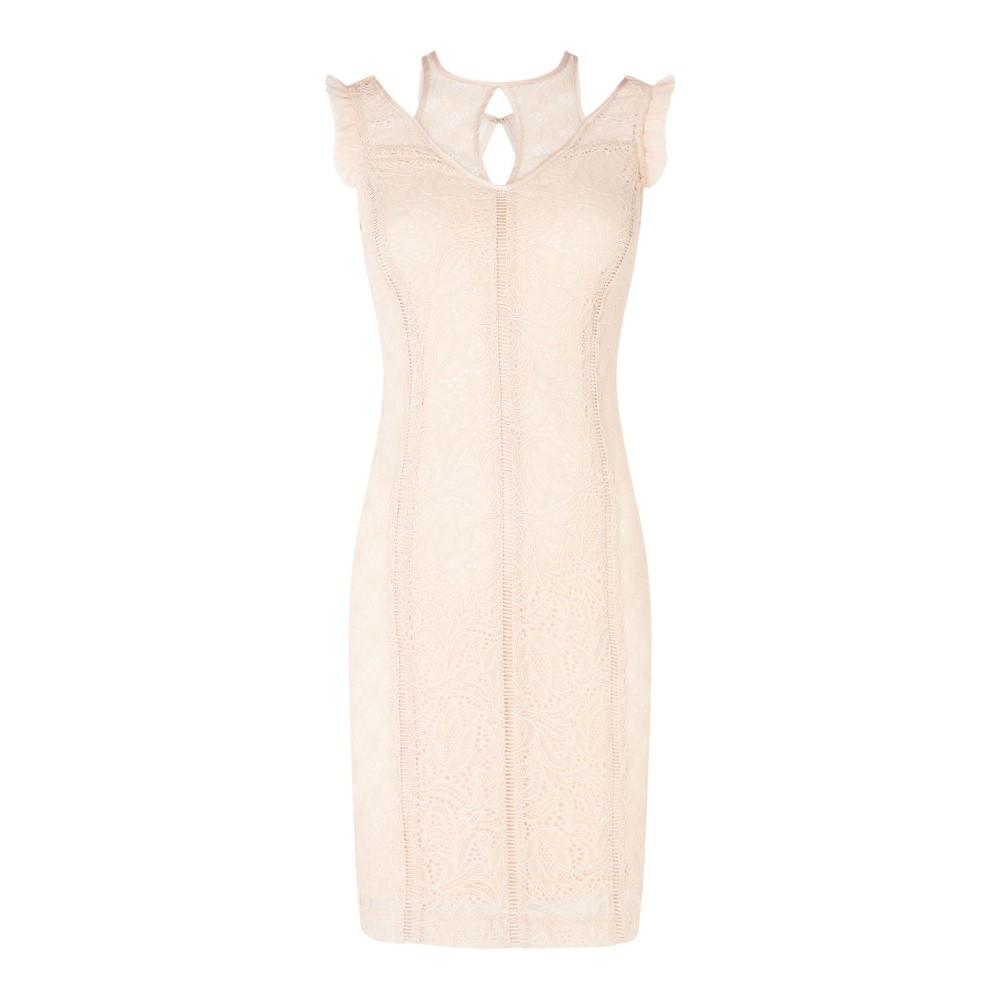 ゲス レディース ワンピース・ドレス ワンピース【Lace Bodycon Dress】pink