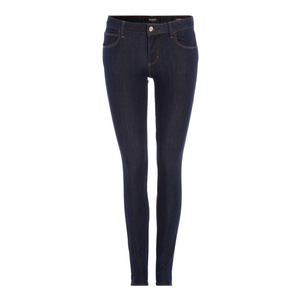 ゲス レディース ボトムス・パンツ ジーンズ・デニム【Curve X Mid Rise Skinny Jeans In Blue Deluxe】denim mid wash