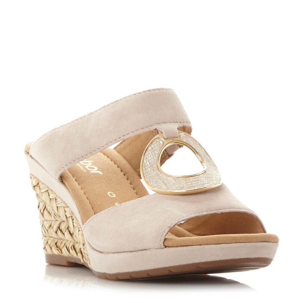 ガボール レディース シューズ・靴 サンダル・ミュール【Sizzle Embellished Wedge Sandals】beige