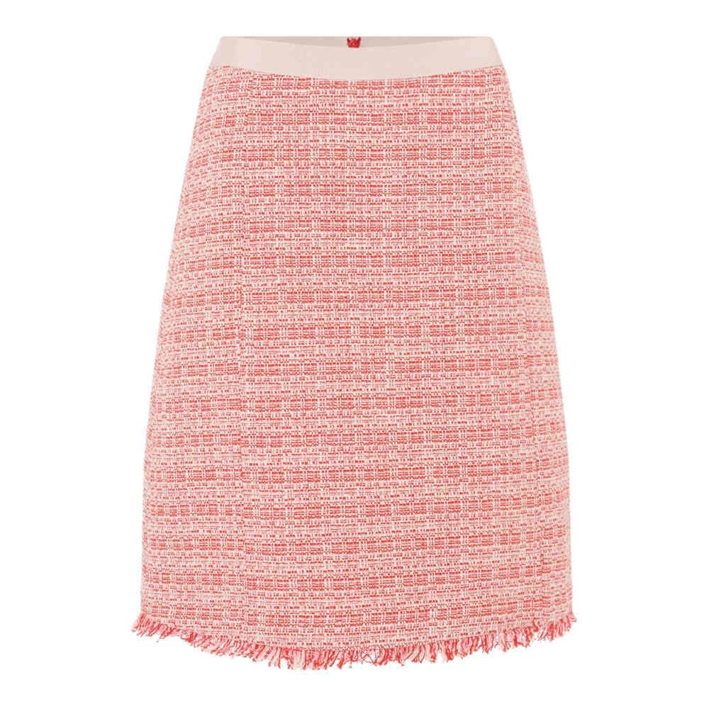 マックスマーラ レディース スカート ひざ丈スカート【Bagdad Tweed Fringed Skirt】red