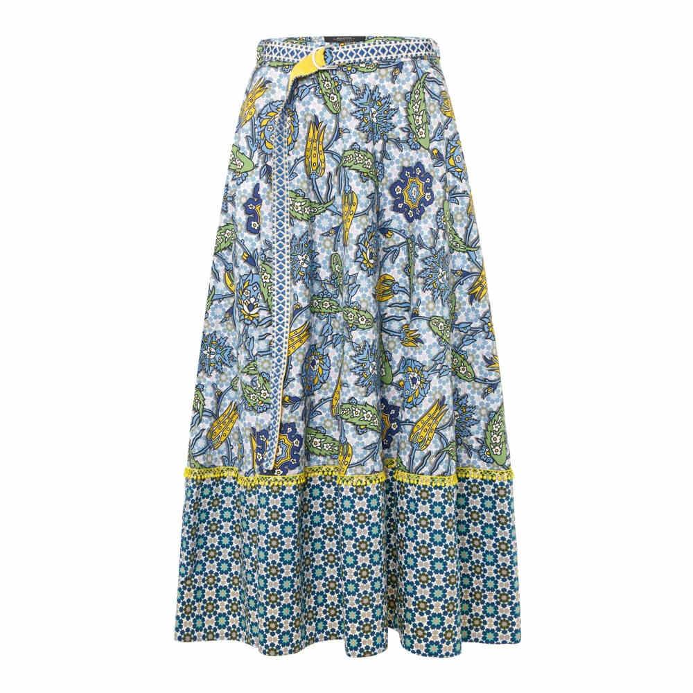 マックスマーラ レディース スカート【Albert Morrocan Print Full Skirt】blue