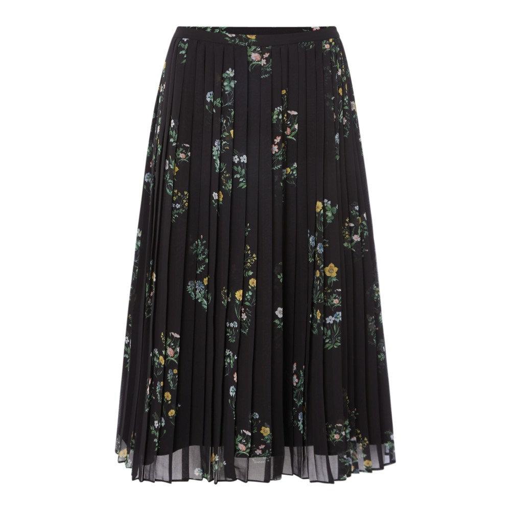 マックスマーラ レディース スカート ひざ丈スカート【Trani Floral Pleated Midi Skirt】black