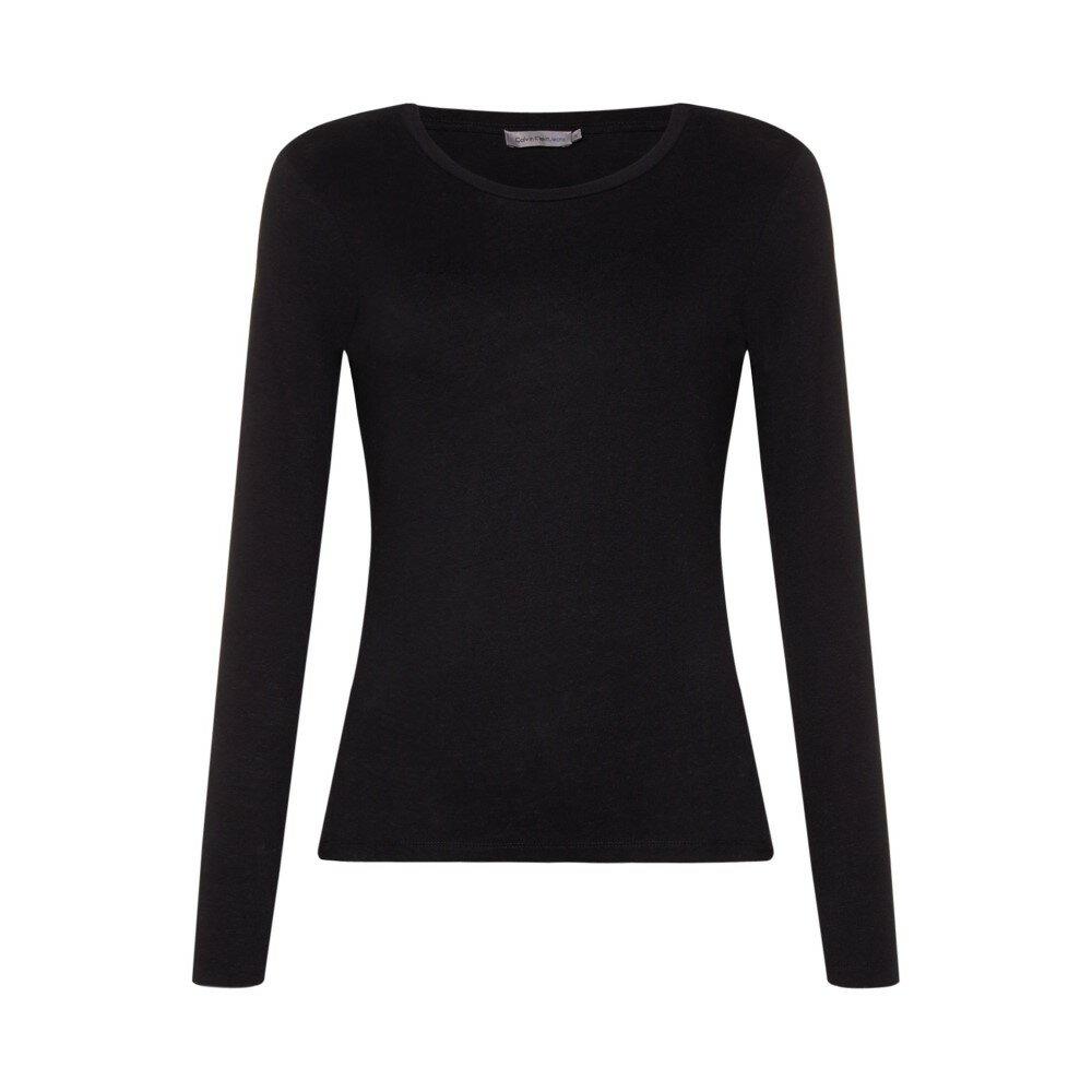カルバンクライン レディース トップス 長袖Tシャツ【Long Sleeve Basic Tee】black