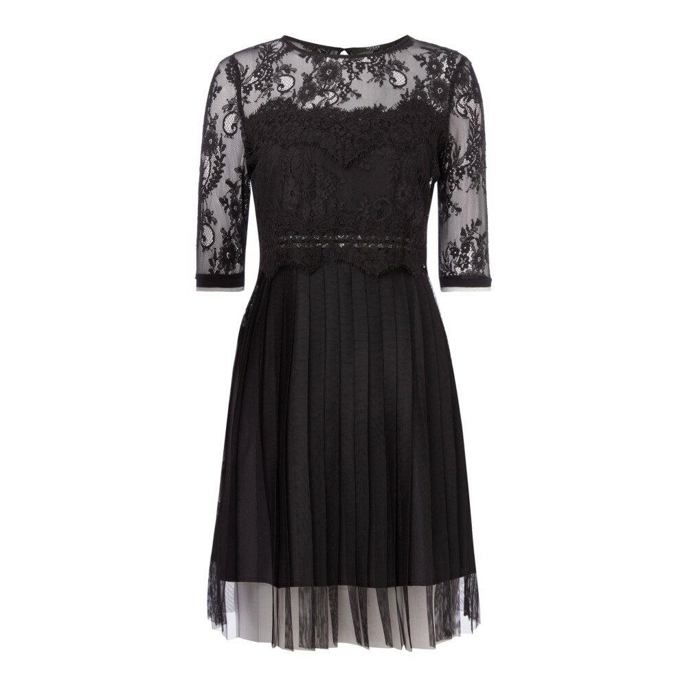 ゲス レディース ワンピース・ドレス ワンピース【Lace Mesh Skater Dress】black