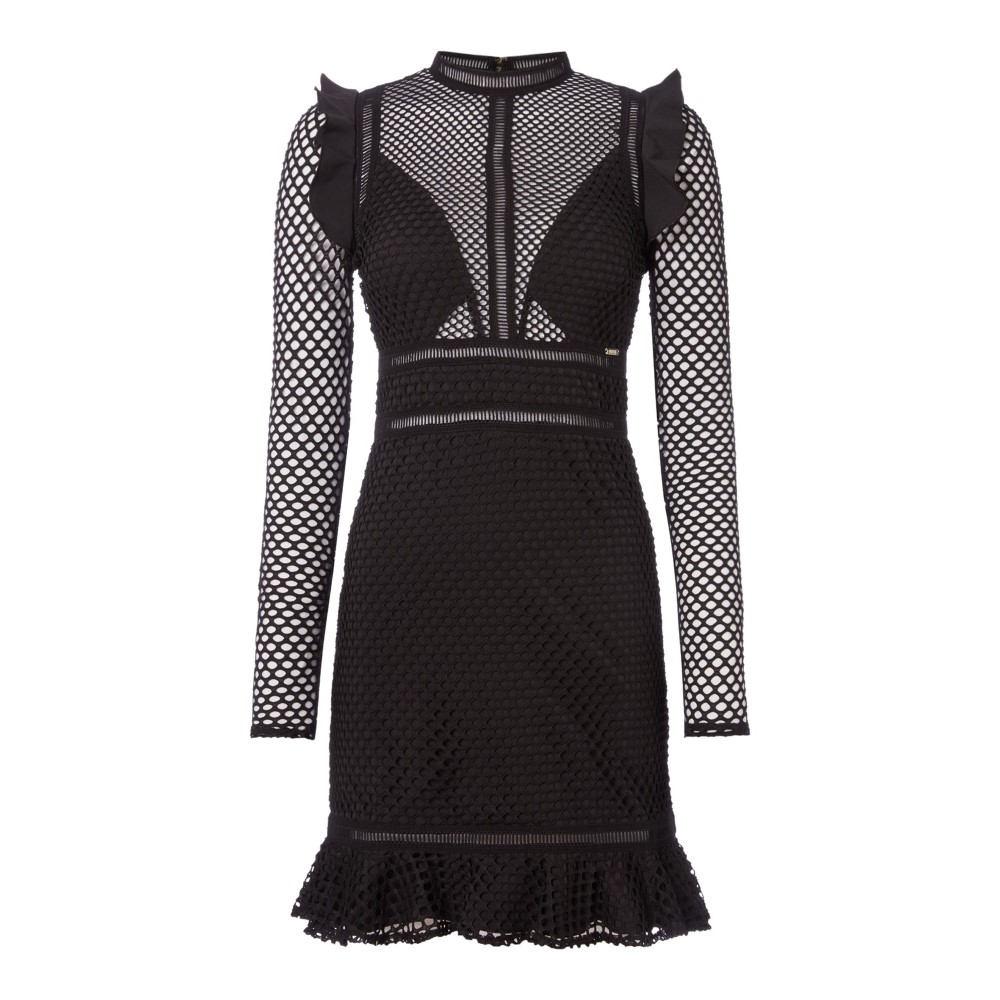 ゲス レディース ワンピース・ドレス ワンピース【Long Sleeve Dress With Lace Sleeves】black