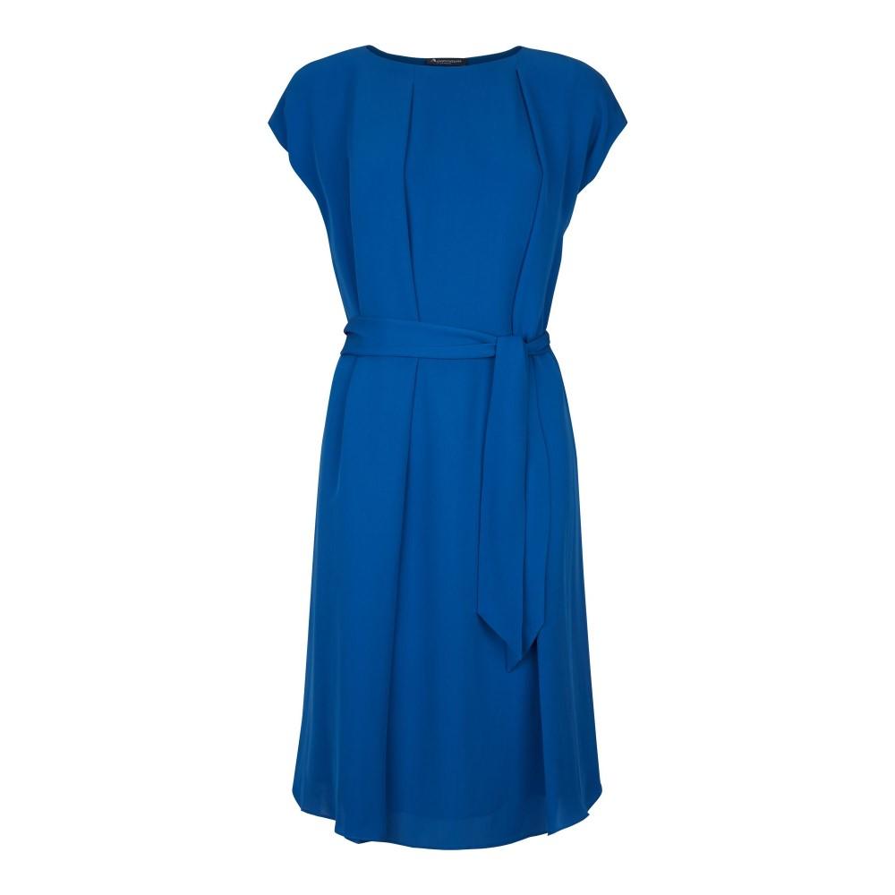 アクアスキュータム レディース ワンピース・ドレス ワンピース【Sofia Pleat Front Dress With Sash】blue