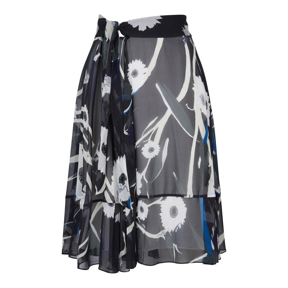 アクアスキュータム レディース スカート【Olive Circle Cut Skirt】black